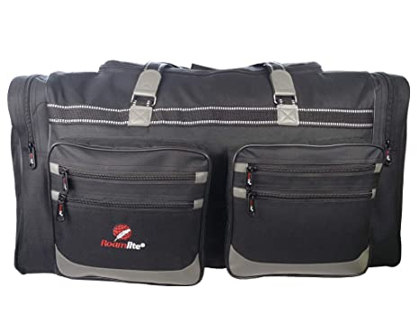 Bolsa de Viaje Grande Tamaño XL - Maleta de 100 Litros Extragrande Negra Múltiples Bolsillos Asas