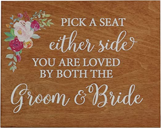 8x10 LifeSong Milestones Gifts Decorative Wedding Party Signs for Ceremony and Reception for Bride and Groom