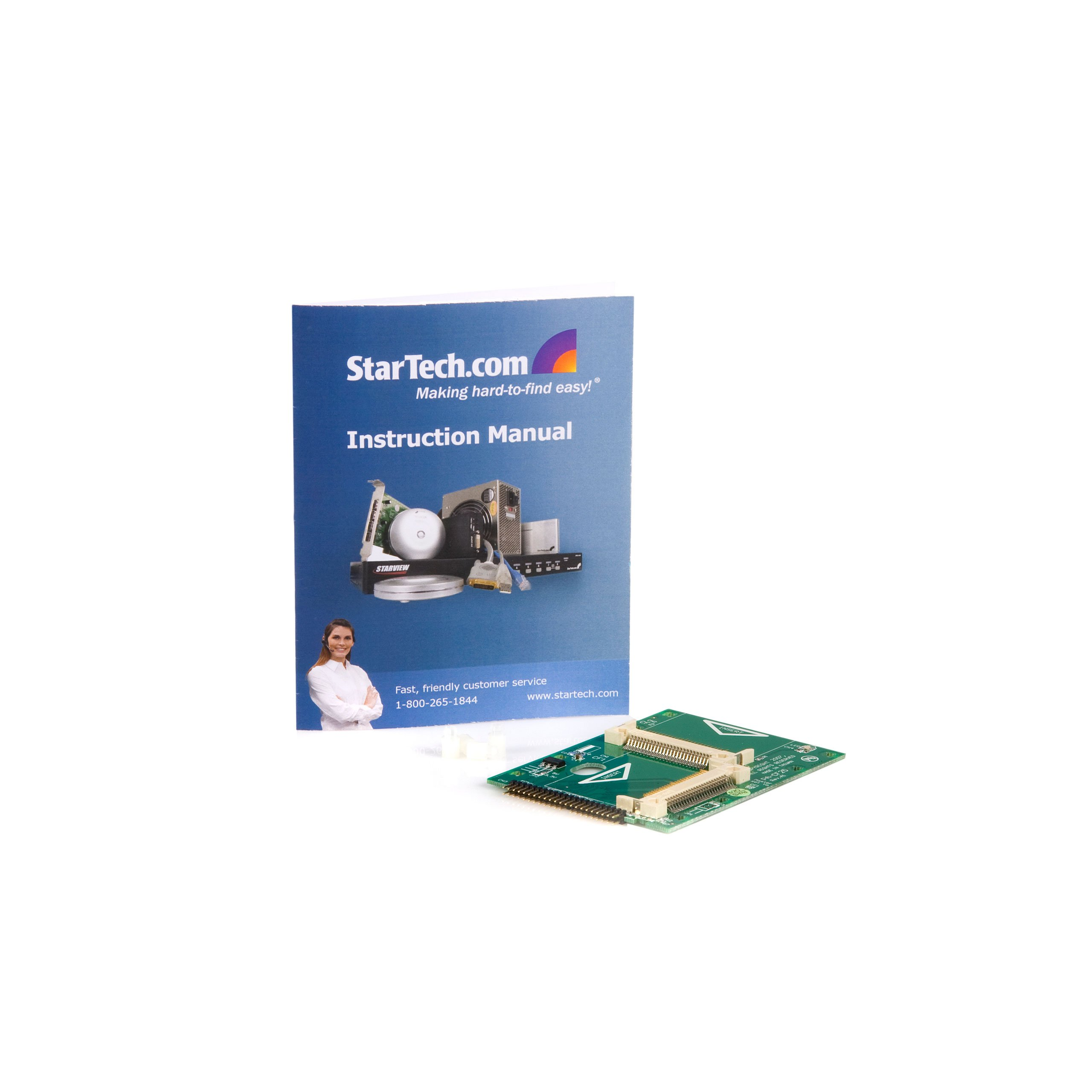 StarTech.com 2.5-Inch IDE to Dual Compact Flash SSD Adapter Card (CF2X2IDE25)