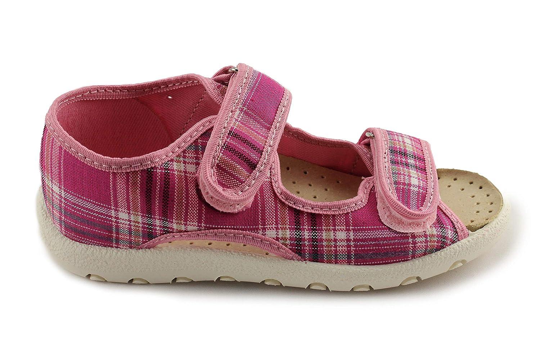 Kornecki Girls Open Toe Canvas Sandals Made in Poland