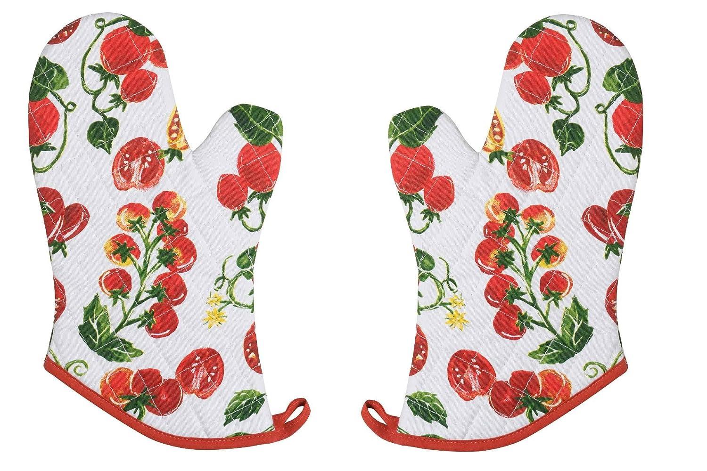 Now Designs Basic Oven Mitt, Market Tomatoes, Set of 2
