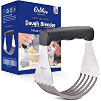 Orblue Pastry Cutter Stainless Steel - Professional Baking Dough Blender with Blades