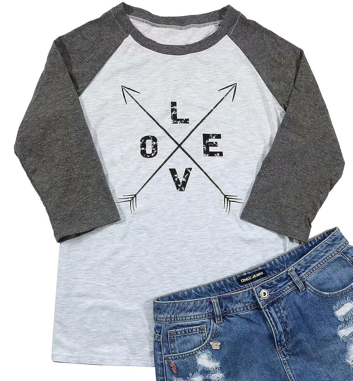 Amazon Love Crossed Arrows Cute Graphic T Shirt Women 34