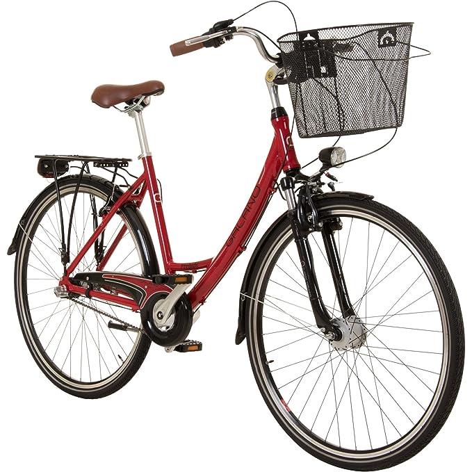 Galano Prelude 28 Zoll Damenfahrrad Hollandrad 700c Citybike Stadt Fahrrad Licht 3 Gang Shimano-Kettenschaltung