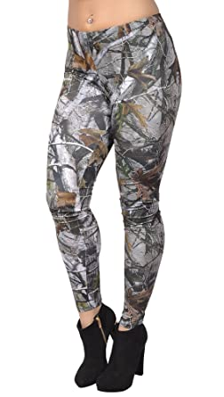 3875cea28c9568 Image Unavailable. Image not available for. Color: BadAssLeggings Women's  Hunting Camo Leggings Medium
