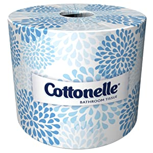Cottonelle ProfessionalBulk Toilet Paper for Business (17713), Standard Toilet Paper Rolls, 2-PLY, White, 60 Rolls / Case, 451 Sheets / Roll
