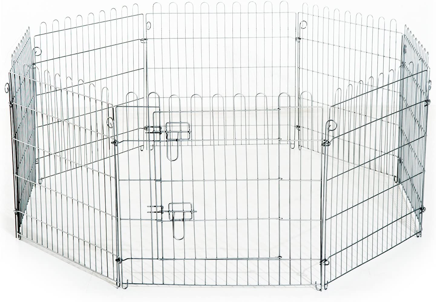PawHut Parque para Cachorros Valla para Cachorros Animales Rejilla Medidas 63 x 60 CM