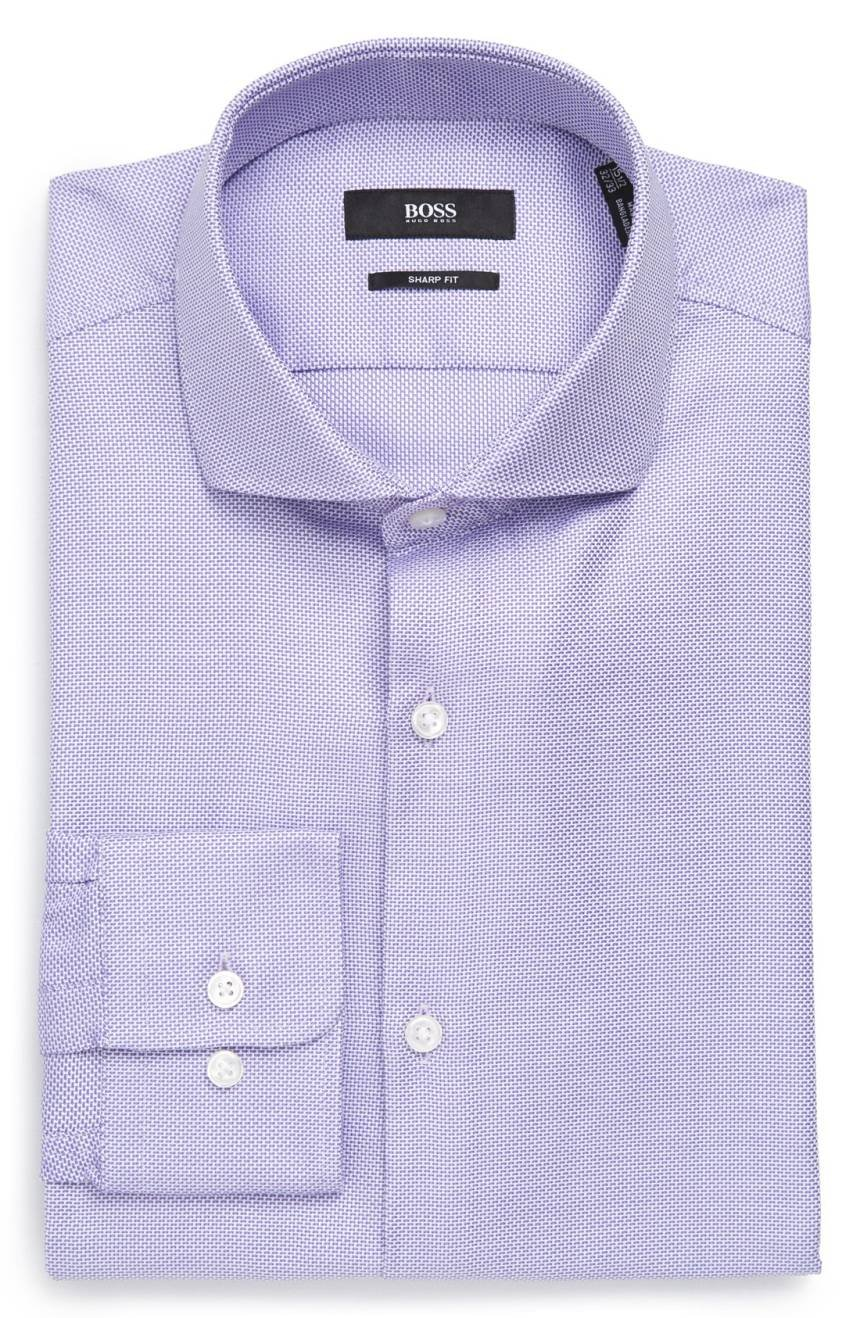Hugo Boss Men's Mark Sharp Fit Dress Shirt (Lt. Purple, 16 32/33)