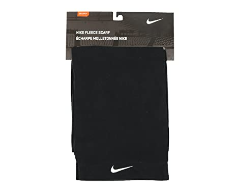 10d22db8c Image Unavailable. Image not available for. Colour: NIKE FLEECE SCARF -  BLACK/WHITE