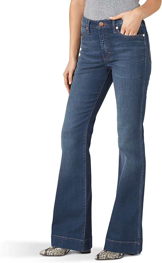 Wrangler Retro Premium Five Pocket High Rise Trouser Jean Jeans Diane 33w 36l Para Mujer Amazon Es Ropa Y Accesorios