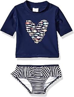 a5dc987c88e72 Amazon.com: KIKO & MAX Little Girls Suit Set with Long Sleeve ...