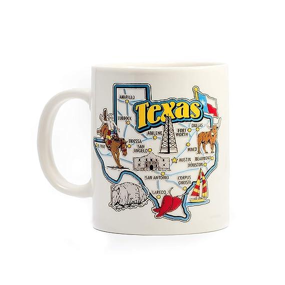 Amazon.com: Taza de café Texas, té, chocolate caliente, 325 ...