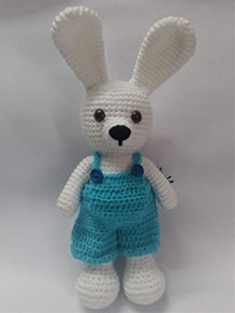 Amazon.com: HYST Pastel Rabbit Handmade Amigurumi Stuffed Toy Knit ... | 450x338