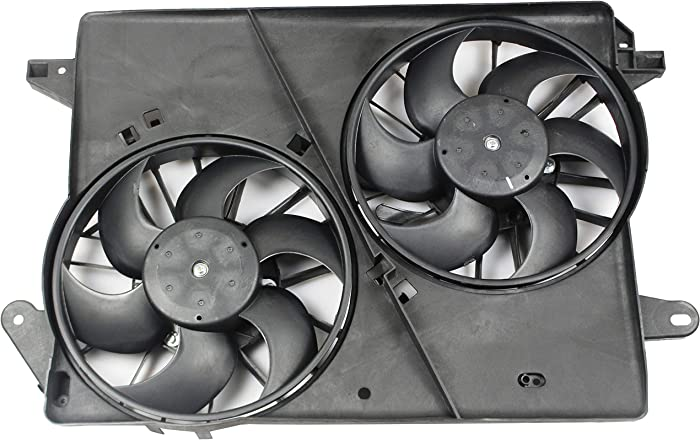 BOXI Dual Engine Cooling Fan Assembly For Dodge Challenger 2008-2010 / Chrysler 300 2005-2010 / Dodge Charger 2006-2010 / Dodge Magnum 2005-2008 5137714AA