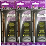 3 Pack Fisher Space Pen Purple Ink Refills SPR6 Medium Tip