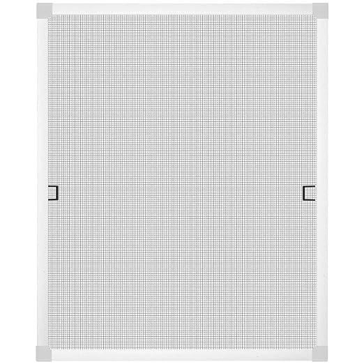 1PLUS Standard Insektenschutz Fliegengitter Aluminium Spannrahmensystem für Fenster, individuell kürzbar, ohne Bohren, 120 x