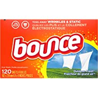 Bounce laundry fabric softener, Sheets Only, 120ct