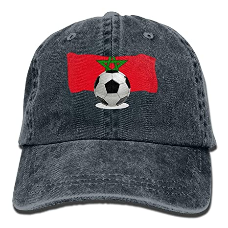 Balón de fútbol de Hombres y Mujeres con la Bandera de Marruecos ...