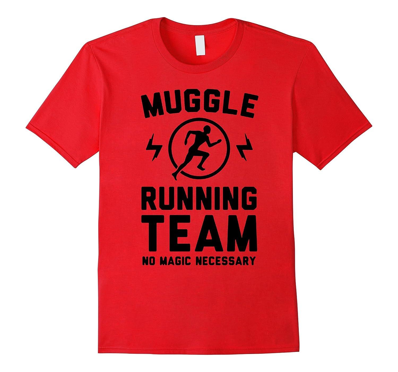 muggles running team no magic necessary-fitness tshirts-TH
