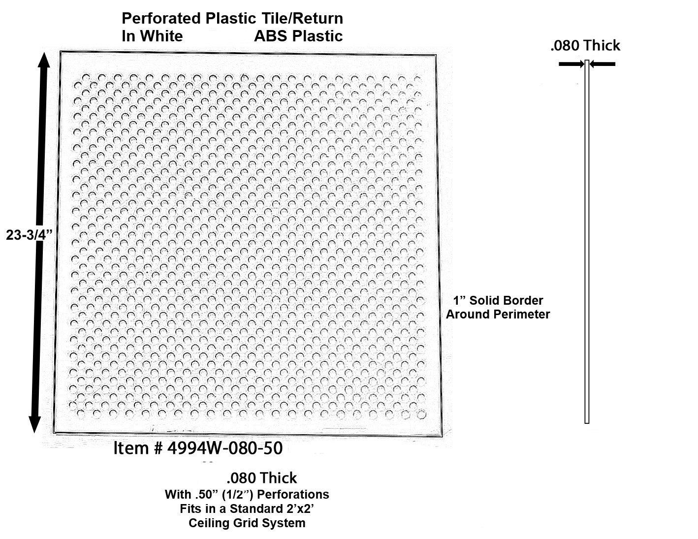 Amazon white plastic perforated tilereturn with 12 amazon white plastic perforated tilereturn with 12 perforations 4994w 125 50 home kitchen dailygadgetfo Choice Image
