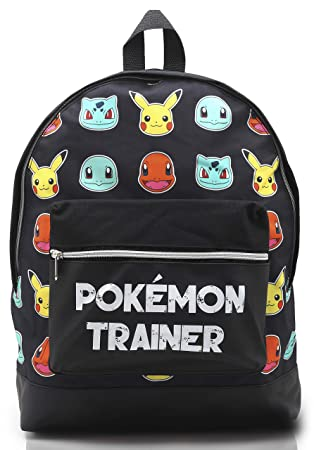 Mochila Pokemon Escolar Lets Go Pikachu Charmander Bulbasaur para Niños Niñas