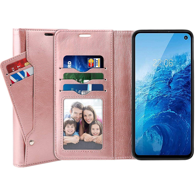 Samsung Galaxy S10e Wallet Case with Magnetic Closure PU Leather + TPU Base Galaxy S10E Flip Case SUPTMAX Samsung Galaxy S10e Leather Wallet Case 5 Slots S10e Black