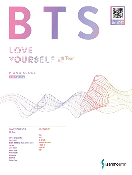 Bts Love Yourself 轉 Tear Piano Score Easy Level Samhomusic Amazon Com Books