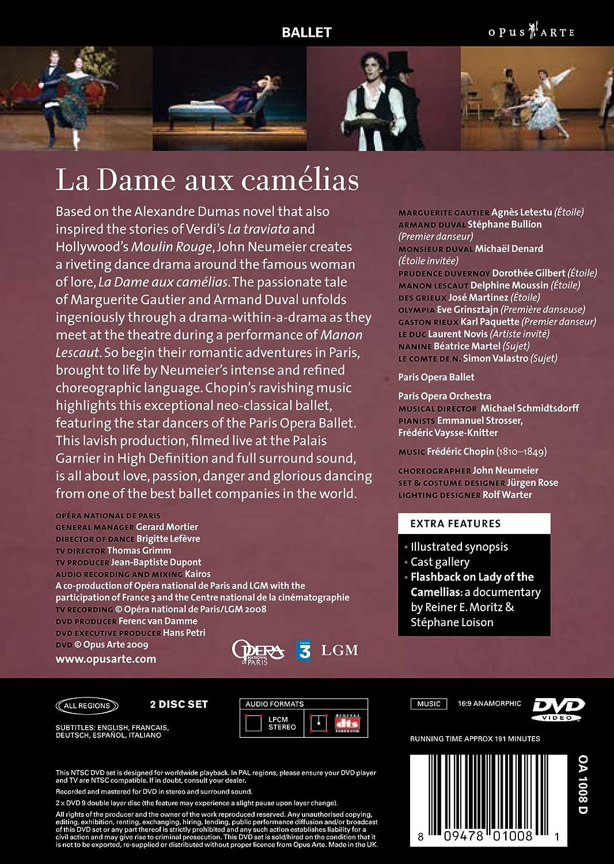 Amazon.com: Chopin: La Dame aux Camelias: Chopin, Schmidtsdorff, Neumeier, Letestu, Grimm: Movies & TV