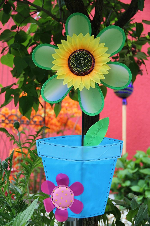Windrad großer Blumentopf Windräder Garten Deko