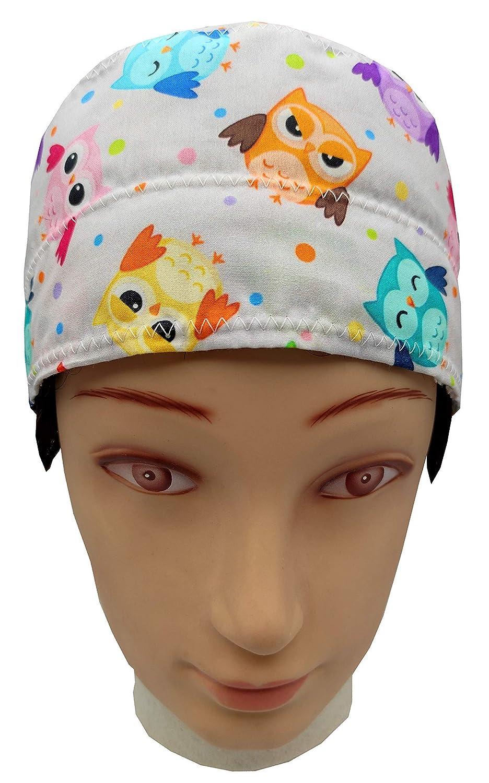 Tendeur R/églable /à Larri/ère 100/% Coton BolsoHatillo TC Dentiste Chirurgien Calot Chirurgien Unisexe HOMME DE LESPACE pour Cheveux Courts Serviette sur le front Cuisinier V/ét/érinaire