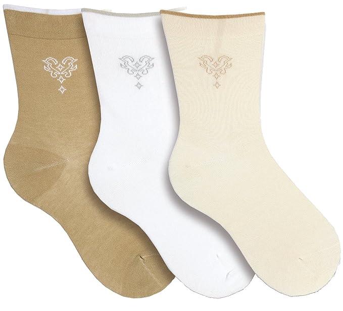 socksPur - Calcetines - para mujer multicolor 39507: Damen WELLNESS SOCKS beige-weiß-