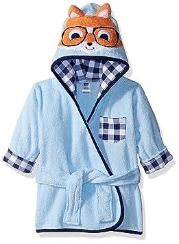 1f3e237591f7 Hudson Baby Animal Face Hooded Bathrobe