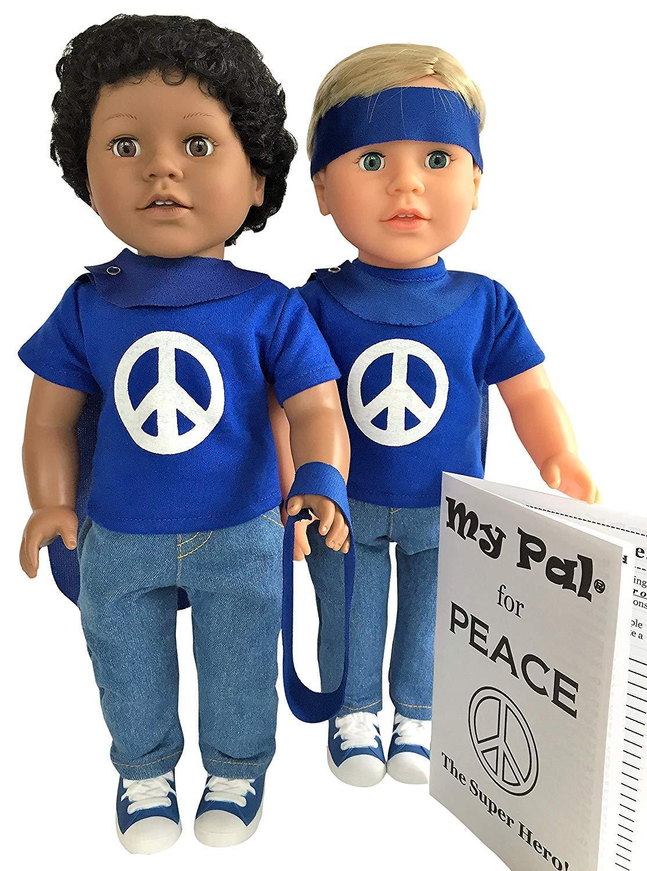 My Pal for Peace、スーパーヒーロー18インチドール、ダークスキンカラー   B07BJDGBND