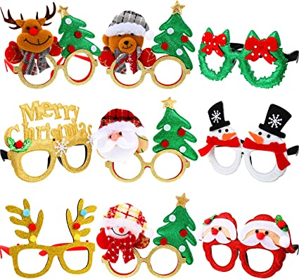 Christmas Party Glasses Santa Tree Boy Girl Adult Kids Gift Xmas Decoration Toy