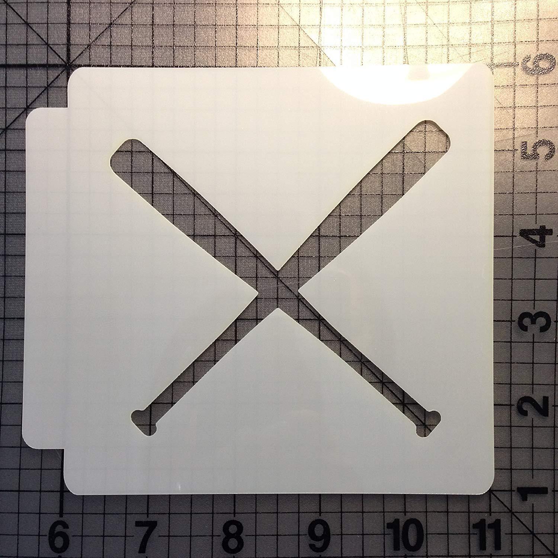 野球ステンシル105 B0197CIB02 4 インチ