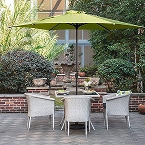 Grand Patio Ombrello per terrazza, Giardino, Piscina e Cortile Ø 270 cm, Impermeabile e Protegge dai Raggi Solari, in Alluminio e con Manovella, ottima ventilazione