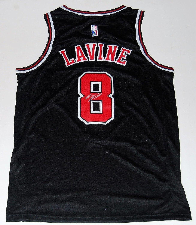 new style 0dc35 766ed Autographed Zach LaVine Jersey - black W COA - Autographed ...