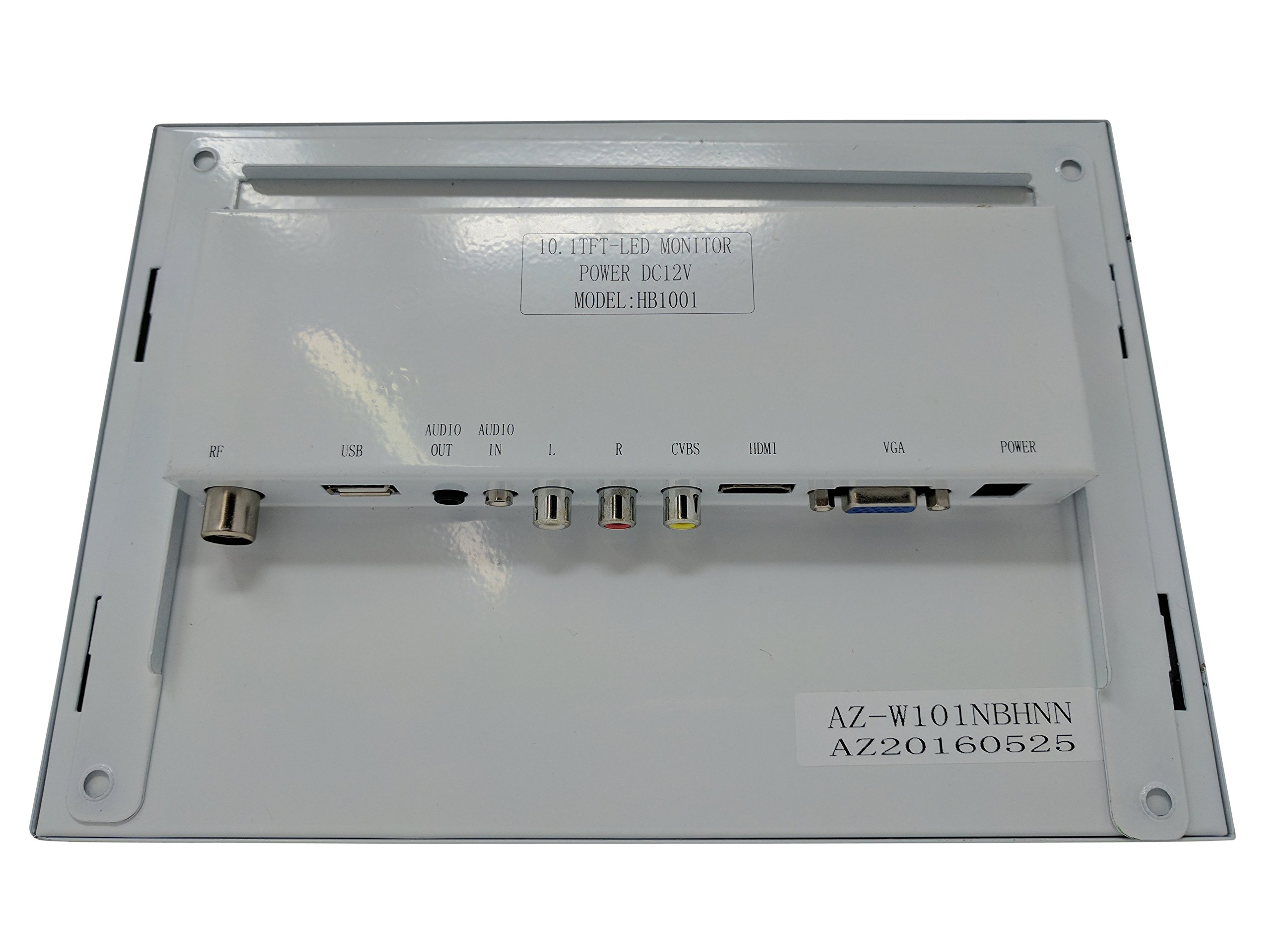 Kenuco White 10.1'' LED Monitor with HDMI/VGA/Composite/RCA Input by Kenuco (Image #5)