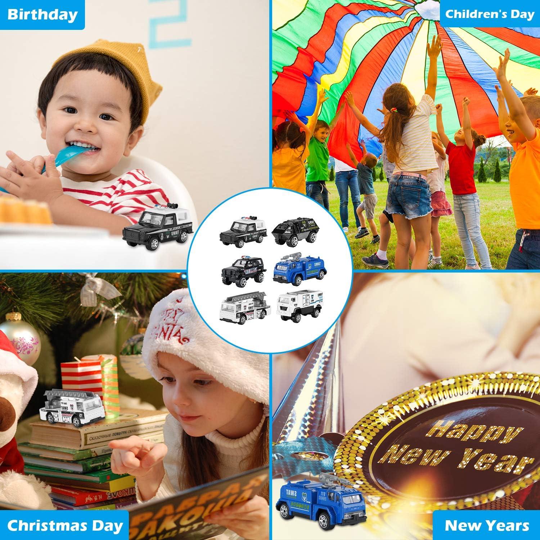 Nouvel an et lanniversaire pour Enfants Gar/çons-Mixte Cadeau Craquant pour No/ël Lot de 6 Voitures de Jouet Hautton Voitures Miniatures 7 Cm Collectionner