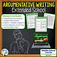 Argumentative Writing Resource Essay Prompt - Activity Lesson with PowerPoint, Student Worksheets, Rubric, Graphic Organizer