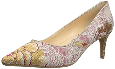 558089521 Image Unavailable. Image not available for. Color: Nine West Women's  NWSOHO9X9-NATURAL RED Multi/LT ...