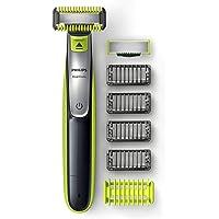 Philips OneBlade Face + Body - Trimmer, scheerapparaat en styler - Geschikt voor gezicht en lichaam - 4 Stoppelkamen - 1…