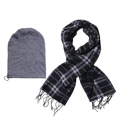 977f22a4bbb Stylathon Men s Combo Of Stylish Winter Woollen Cap With Muffler((Black