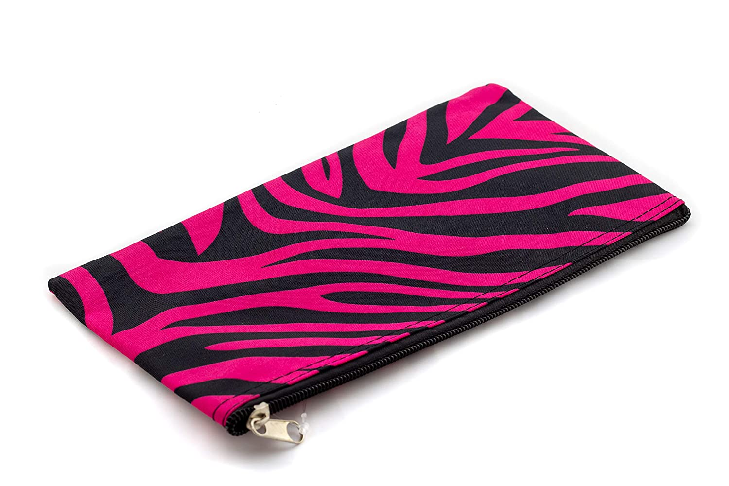 "Uni Collections 11"" Make Up Pouch (Zebra Print Black/Pink)"