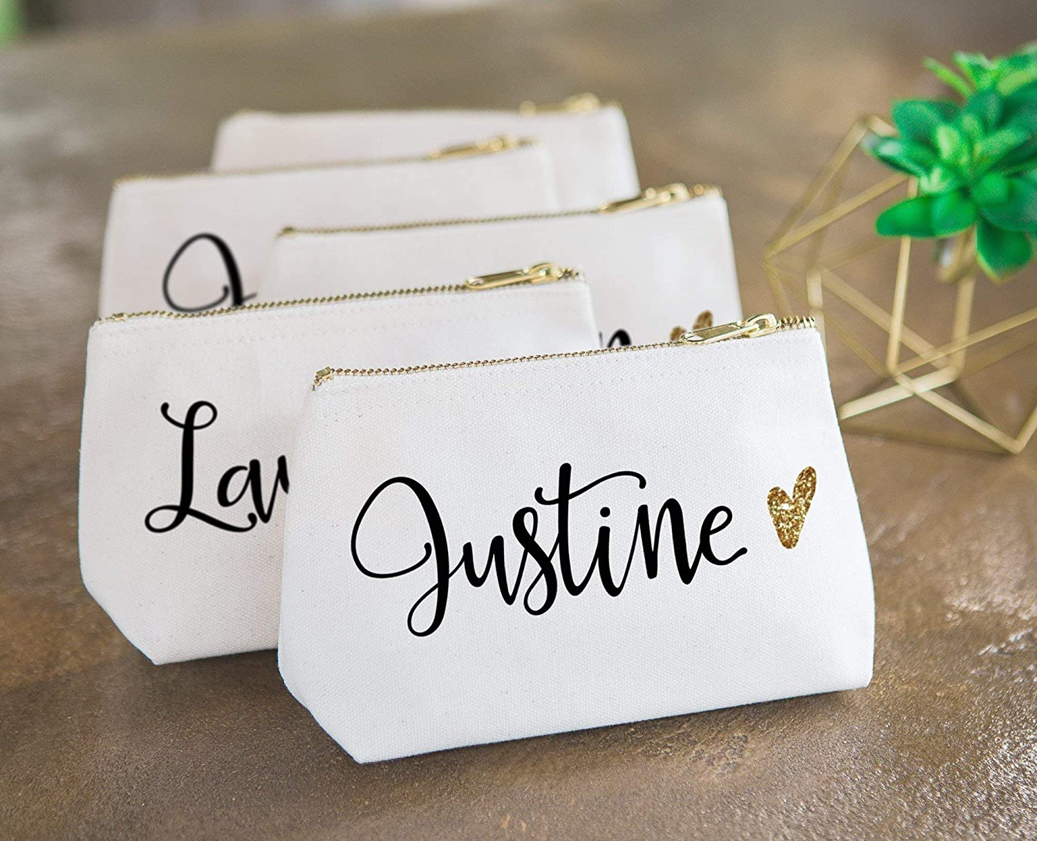 Personalized Gold Bridesmaid Gift Sparkly Custom Name Girls Trip Personalized Beach Bag Weekender Bag Canvas Bag Sparkles Glitter