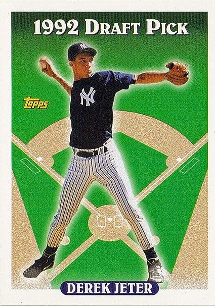 Topps 1993 98 Derek Jeter Rc New York Yankees Rookie Baseball Card In Protective Display Case