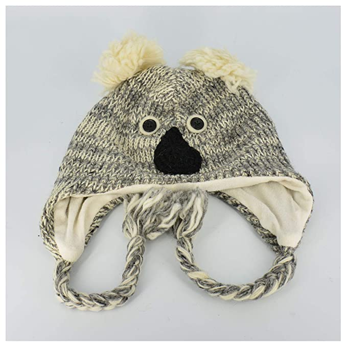 51527e88 Image Unavailable. Image not available for. Color: Koala Bear Wool Knit Cap  Soft Stretchy Cap W/Fleece Lining ...