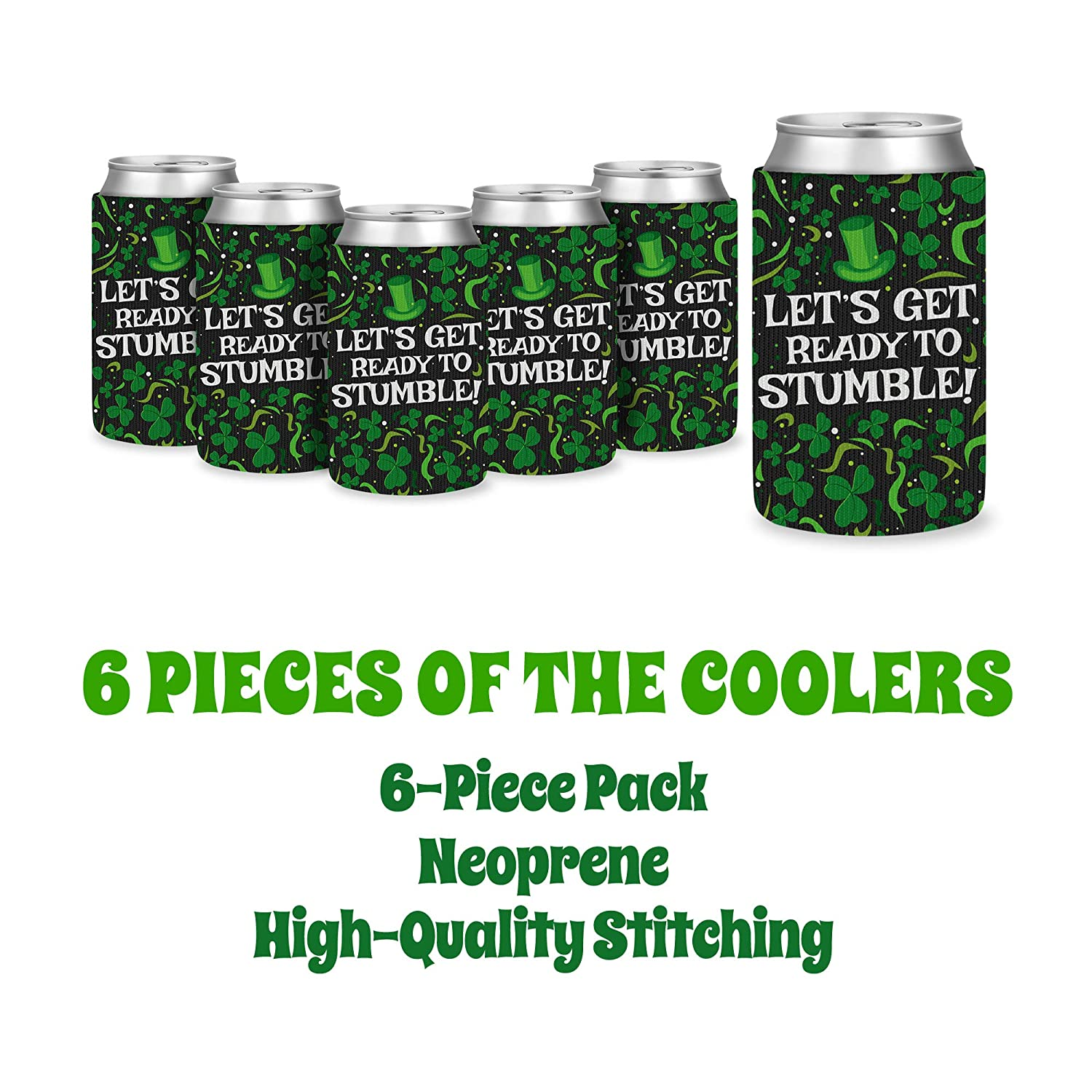 9dbbdf374 St. Patrick's Day Can Cover - Insulated Cooler - With Clovers, Swirlies,  Dots Designs - Keep Canned Drinks Cool For A Longer Time - Stay Refreshed &  Get ...