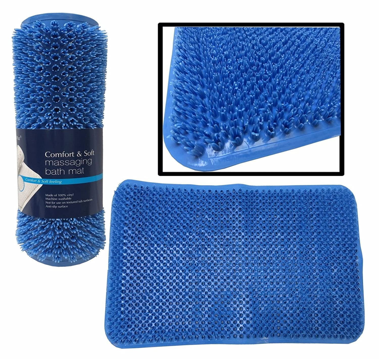 Amazon.com: LavoHome Soft as Grass Bristles Massage Bath Mat Anti ...
