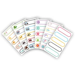 Baby Bottle Labels - Write On Self Laminating - Microwave and Diswasher Safe - Great for Daycares! Made in USA by Kenco (1 Pack)